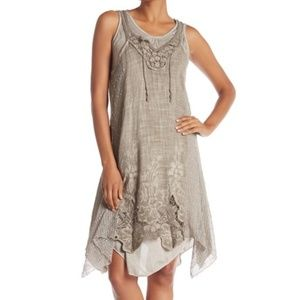 Simply Couture Layered Crochet Knit Dress